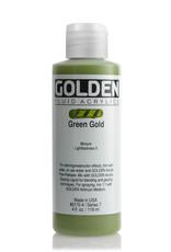 Golden Fluid Acrylic Paint, Green Gold, Series 7, 4fl.oz, Bottle