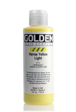 Golden Fluid Acrylic Paint, Hansa Yellow Light, Series 3, 4fl.oz, Bottle