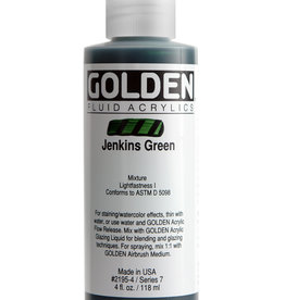 Golden Fluid Acrylic Paint, Jenkins Green, Series 7, 4fl.oz, Bottle
