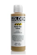 Golden Fluid Acrylic Paint, Nickel Azo Yellow, Series 6, 4fl.oz, Bottle