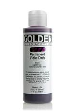 Golden Fluid Acrylic Paint, Permanent Violet Dark, Series 7, 4fl.oz, Bottle
