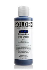 Golden Fluid Acrylic Paint, Phthalo Blue (Red Shade), Series 4, 4fl.oz, Bottle
