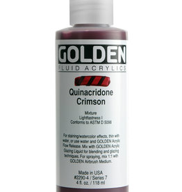 Golden Fluid Acrylic Paint, Quinacridone Crimson, Series 7, 4fl.oz, Bottle