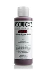 Golden Fluid Acrylic Paint, Quinacridone Violet, Series 6, 4fl.oz, Bottle