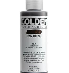 Golden Fluid Acrylic Paint, Raw Umber, Series 1, 4fl.oz, Bottle