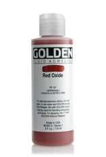 Golden Fluid Acrylic Paint, Red Oxide, Series 1, 4fl.oz, Bottle