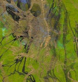 """Thailand Momi Marbled Forest, 25"""" x 36"""", 30 gram"""