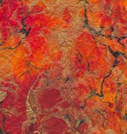 "Thailand Momi Marbled Volcano, 25"" x 36"", 30 gram"