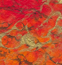 "Momi Marbled Volcano, 25"" x 36"", 30 gram"