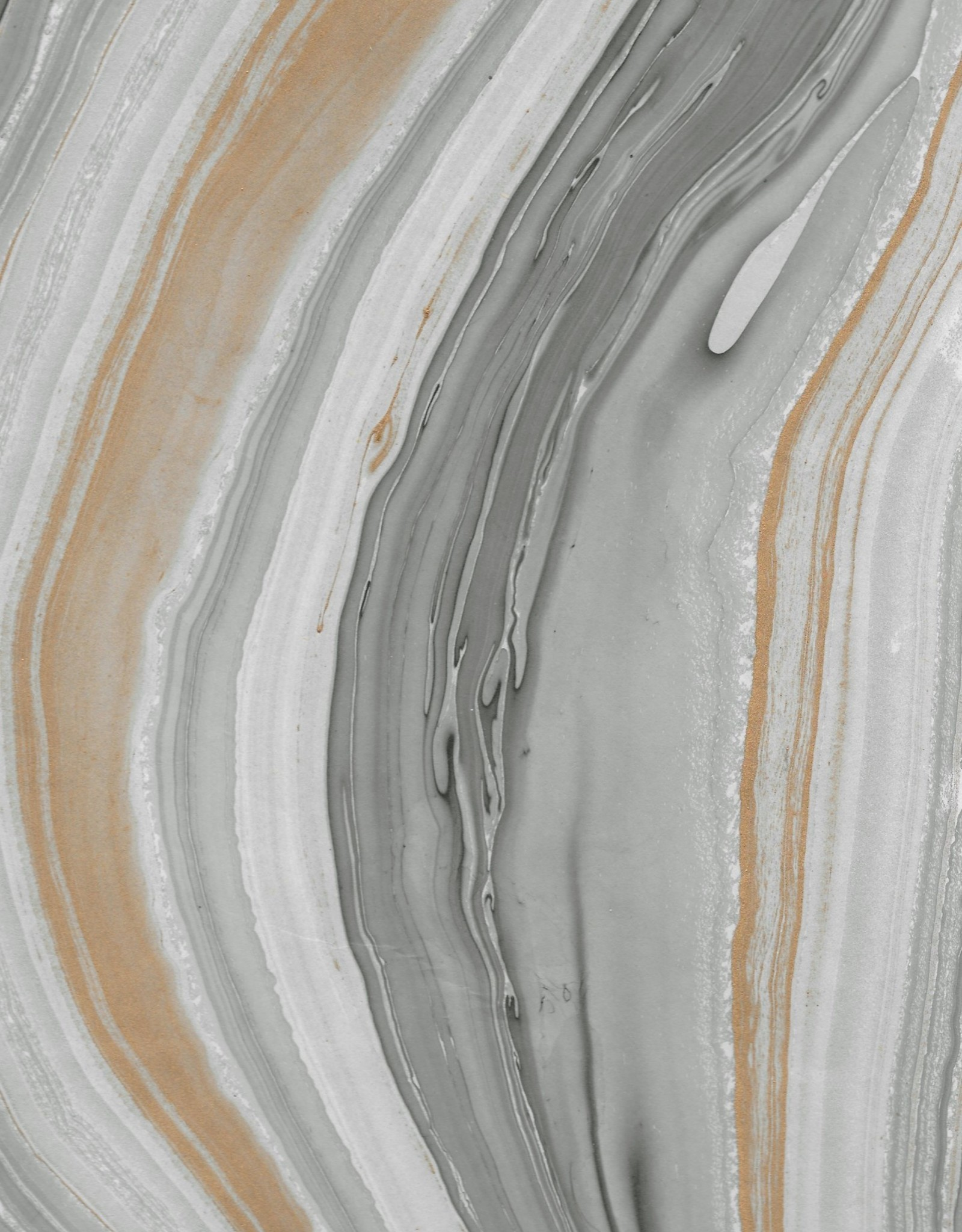 "Momi Marbled Black/Gold/Silver, 25"" x 36"", 30 gram"