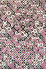 "Japanese Yuzen 871, Circle Quilt, 19"" x 25"""