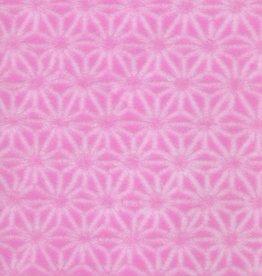 "Japanese Pink Asanoha Stars, 22"" x 32"","