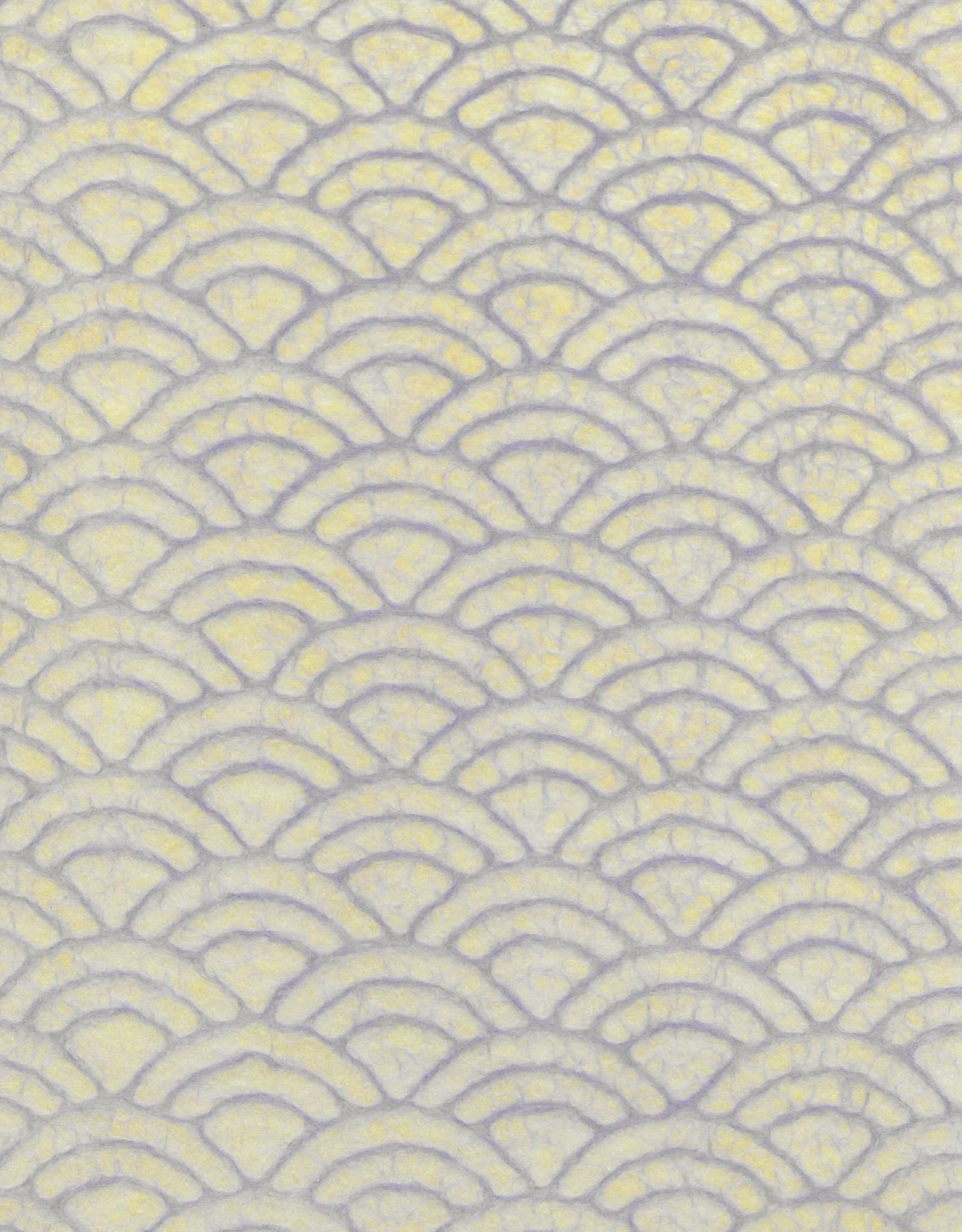 "Japanese Uminami Lace Purple, 21"" x 31"""