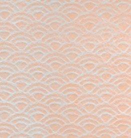 """Japanese Uminami Lace Tangerine, 21"""" x 31"""""""