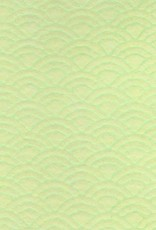 "Japanese Uminami Lace Spring Green, 21"" x 31"""