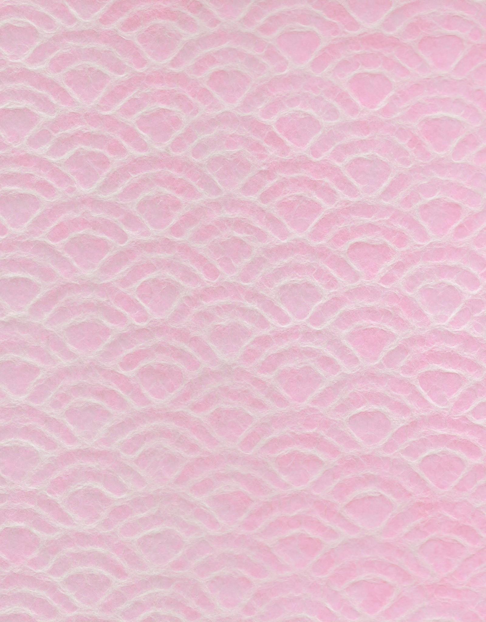 "Japanese Uminami Lace Pink, 21"" x 31"""