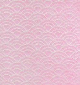 """Japan Uminami Lace Pink, 21"""" x 31"""""""