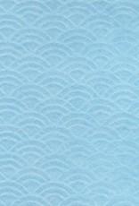 """Japanese Uminami Lace Baby Blue, 21"""" x 31"""""""