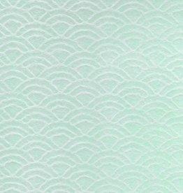 "Japan Uminami Lace Mint, 21"" x 31"""