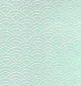 "Japanese Uminami Lace Mint, 21"" x 31"""