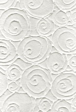 "Thai Embossed Swirling Ovals, 21"" x 31"""