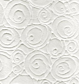 """Thailand Thai Embossed Swirling Ovals, 21"""" x 31"""""""