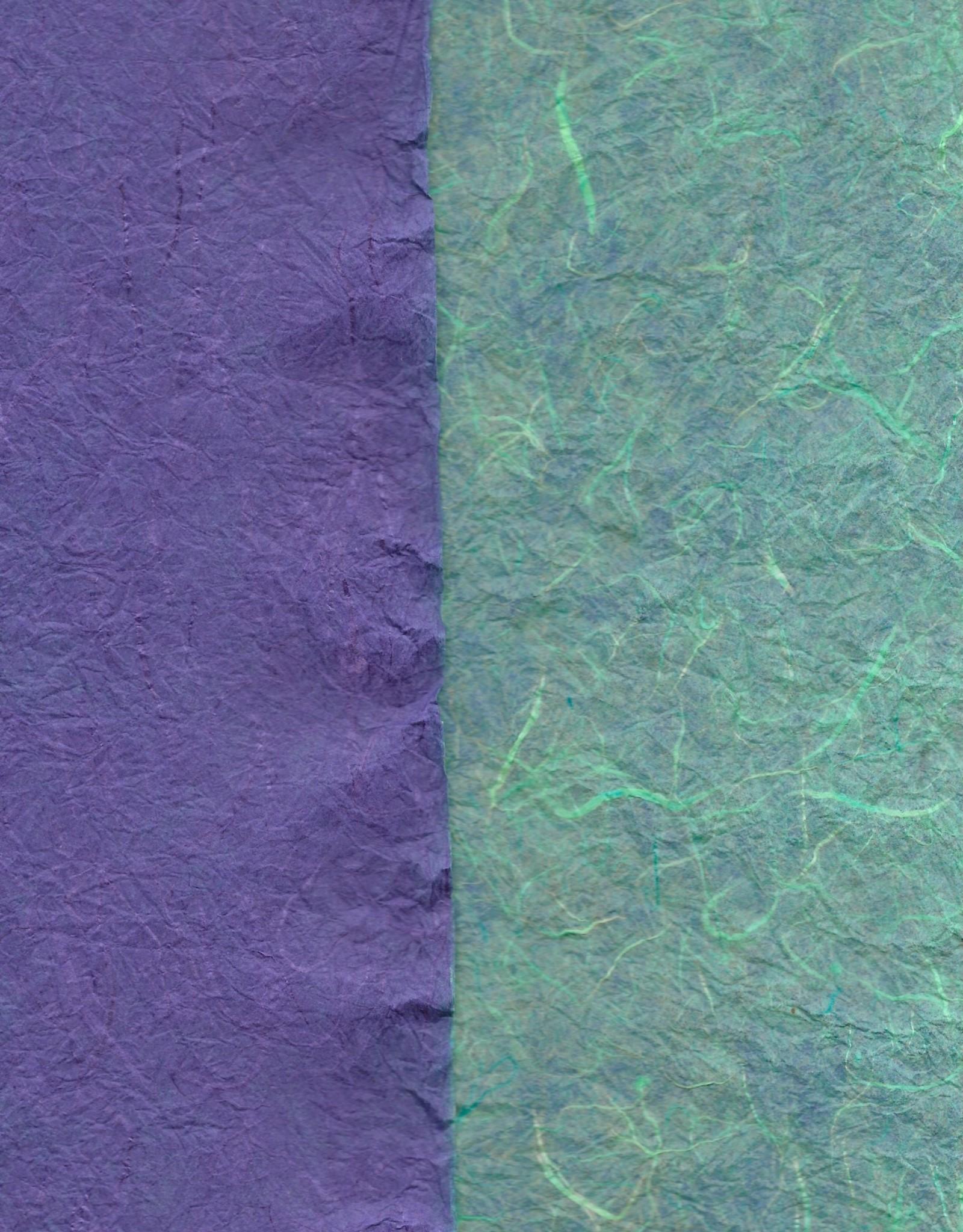 "Thai Reversible Aegean/Purple, 23"" x 35"""