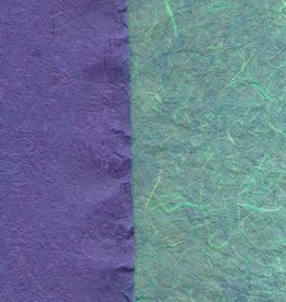 "Thai Reversible Aegean/Purple, 23"" x 35"""