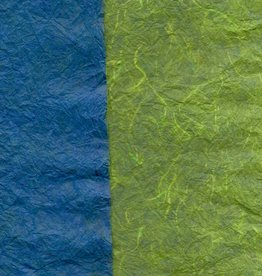 "Thai Reversible Blue/Green, 23"" x 35"""