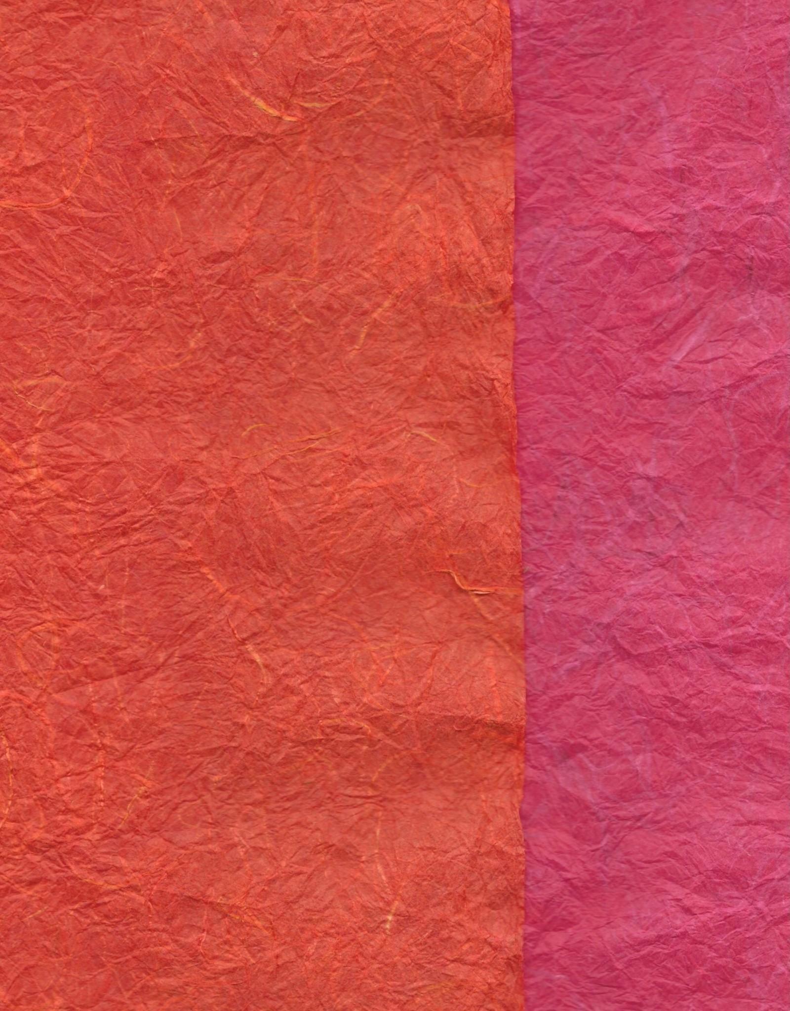 """Thai Reversible Pink/Orange, 23"""" x 35"""""""