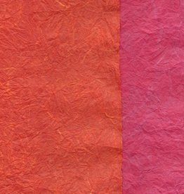"Thai Reversible Pink/Orange, 23"" x 35"""