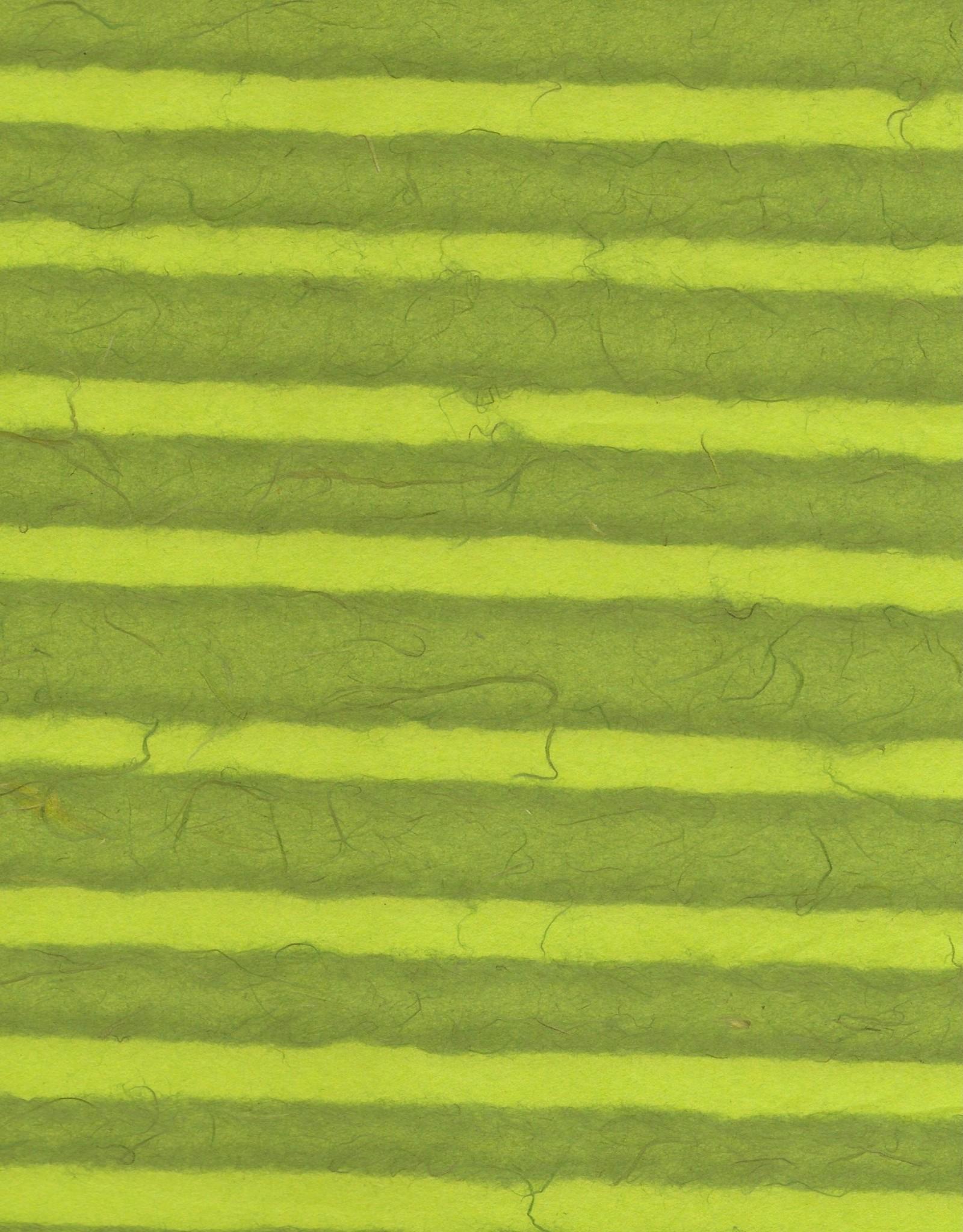 "Thai Stripes Lime/Forrest Green, 25"" x 37"""
