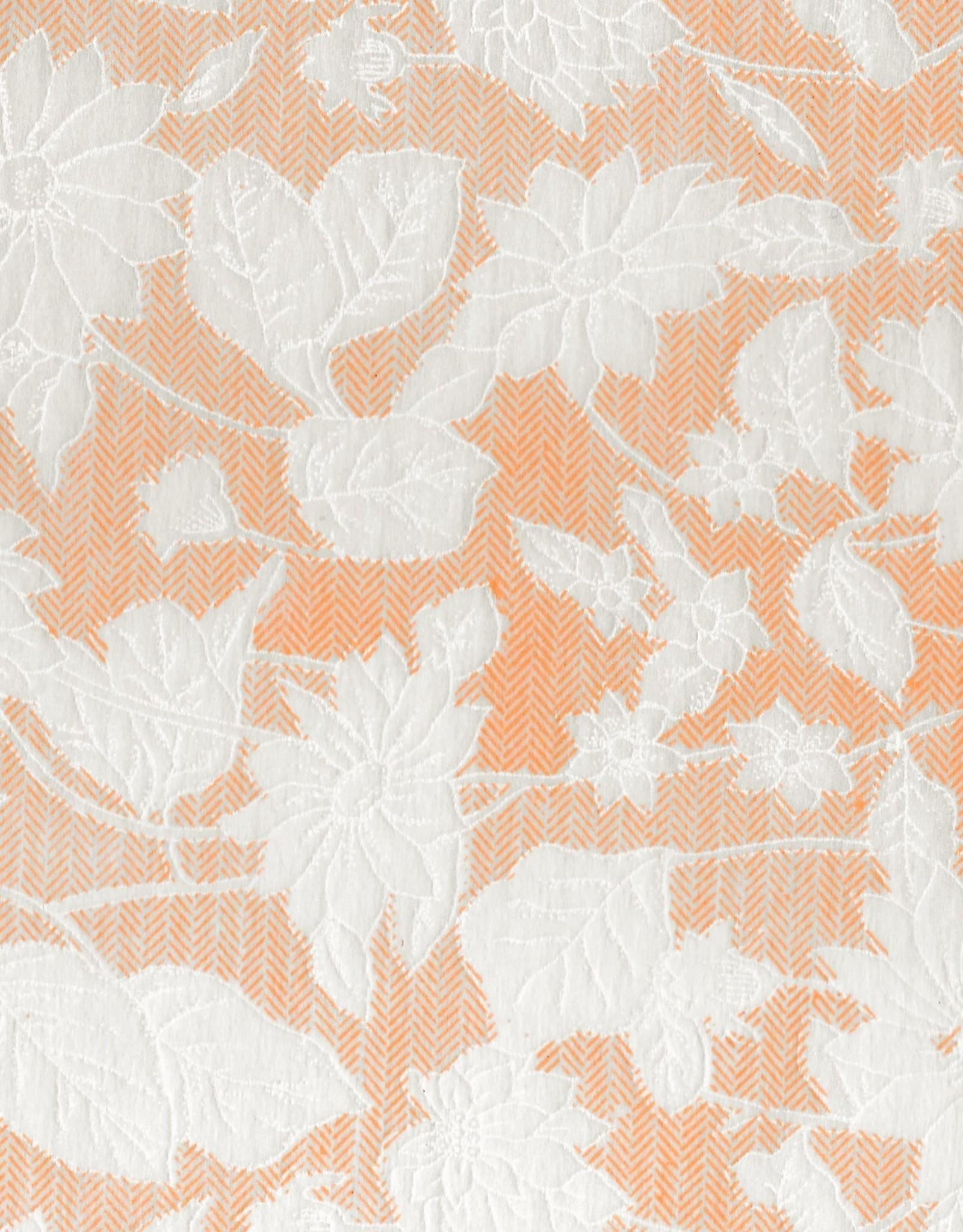 "Floral Rayon Mandarin Orange, 22"" x 30"""