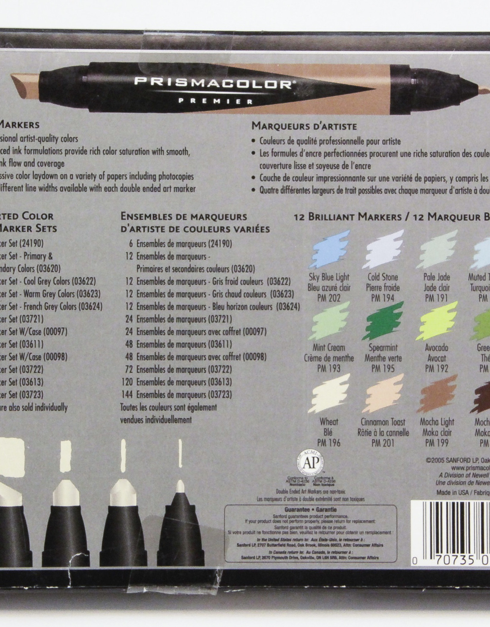 Prismacolor Markers, Set of 12 Natural Colors