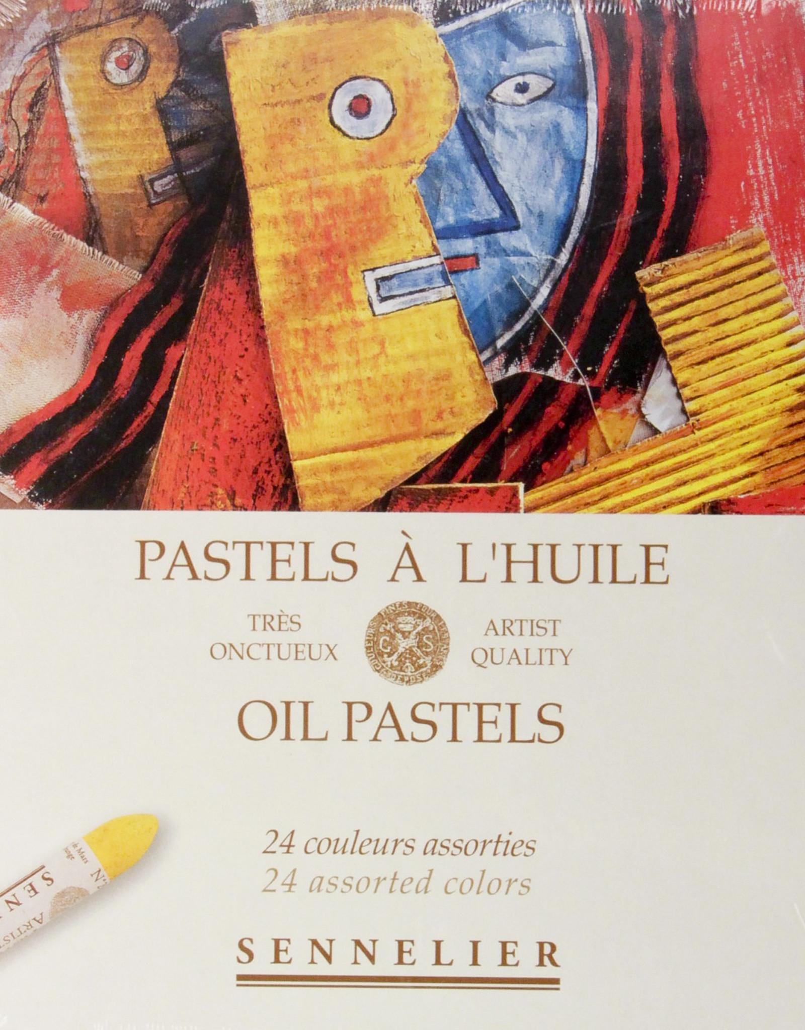 Sennelier, Assorted Oil Pastel Cardboard Set of 24