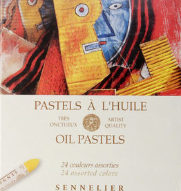 Sennelier, Assorted Oil Pastel Cardboard Set of 24