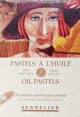 Sennelier, Portrait Oil Pastel Cardboard Set of 24