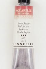 Sennelier, Aquarelle Watercolor Paint, Red Brown, 405, 10ml Tube, Series 1