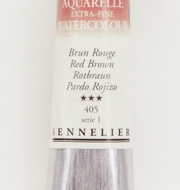 Sennelier, Aquarelle Watercolor Paint, Red Brown, 405, 10ml Tube, Series 1