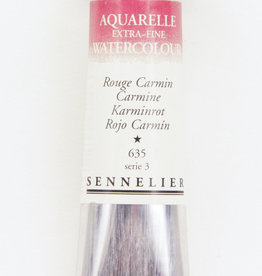 France Sennelier, Aquarelle Watercolor Paint, Carmine, 635, 10ml Tube, Series 3