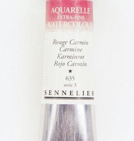 Sennelier, Aquarelle Watercolor Paint, Carmine, 635, 10ml Tube, Series 3