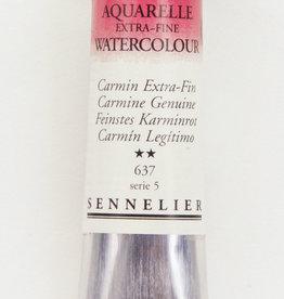 France Sennelier, Aquarelle Watercolor Paint, Carmine Genuine, 637, 10ml, Series 5