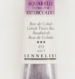 Sennelier, Aquarelle Watercolor Paint, Cobalt Violet Rose, 653, 10ml, Series 5