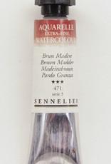 Sennelier, Aquarelle Watercolor Paint, Brown Madder, 471, 10ml Tube, Series 3