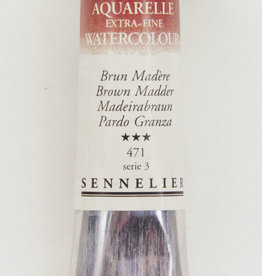 France Sennelier, Aquarelle Watercolor Paint, Brown Madder, 471, 10ml Tube, Series 3