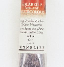 France Sennelier, Aquarelle Watercolor Paint, Chinese Vermilion, 677,10ml Tube, Series 3