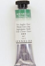 Sennelier, Aquarelle Watercolor Paint, Phthalo Green Deep, 807, 10ml Tube, Series 2