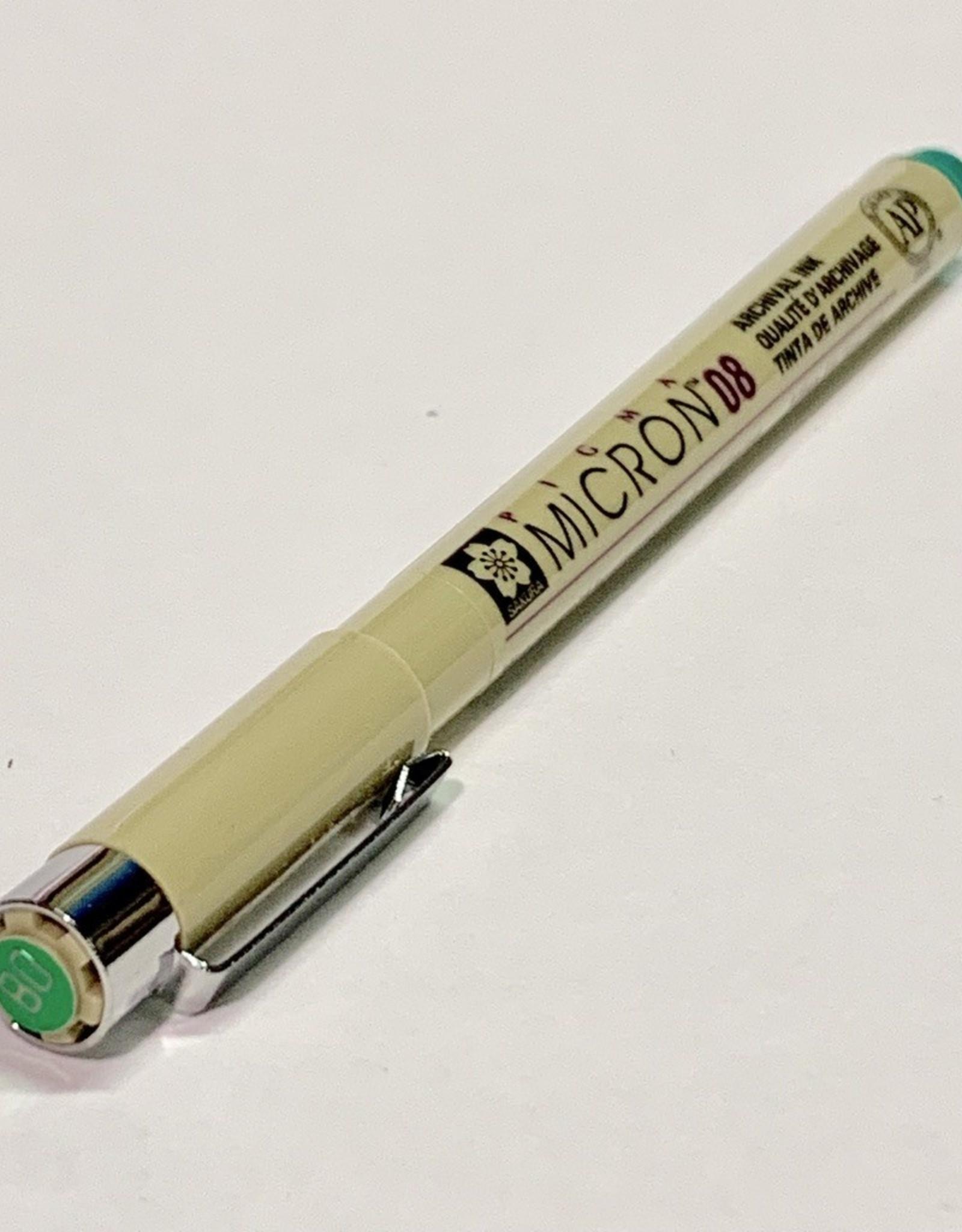 Sakura Micron Green Pen 08 .50mm