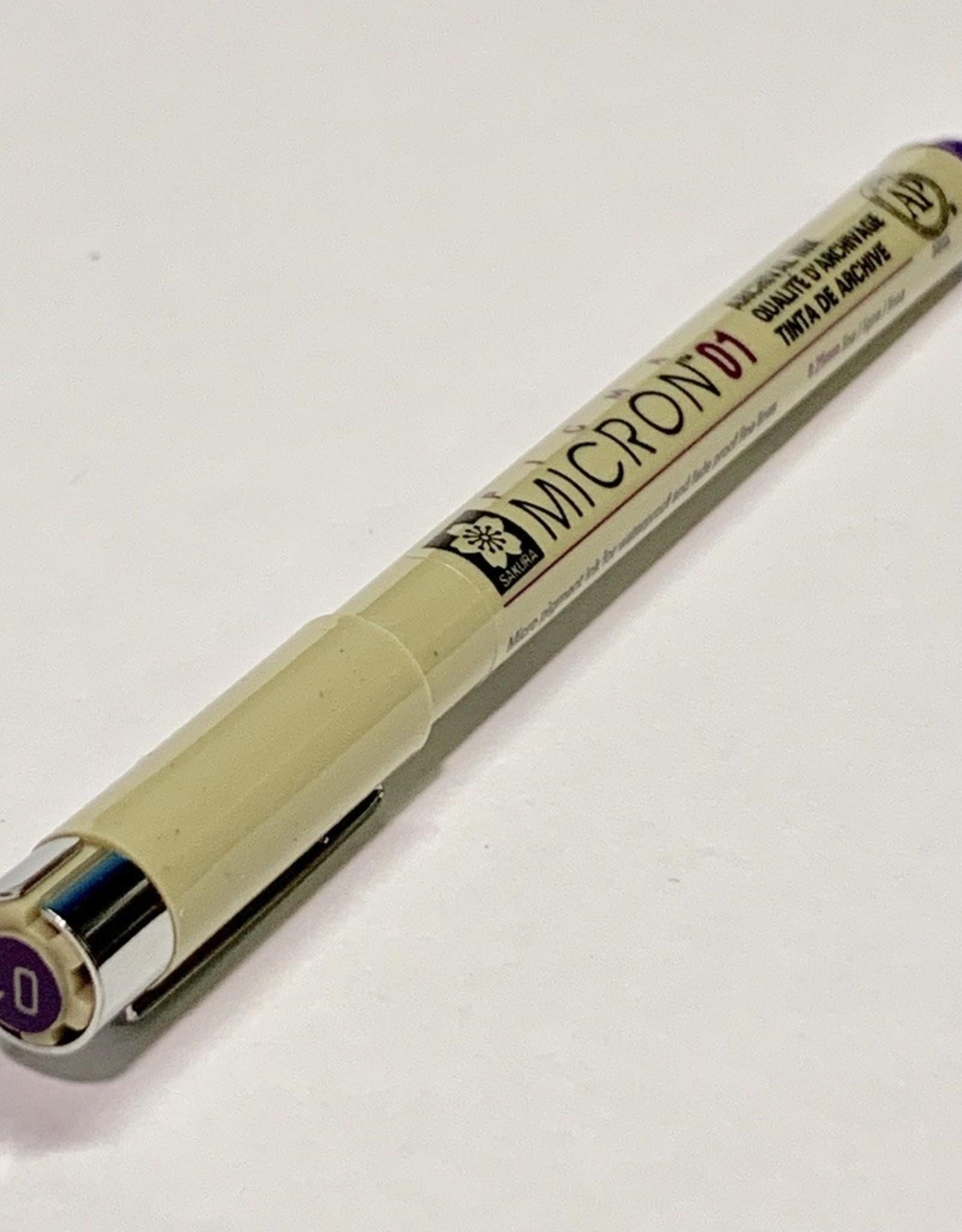 Micron Purple Pen 01 .25mm