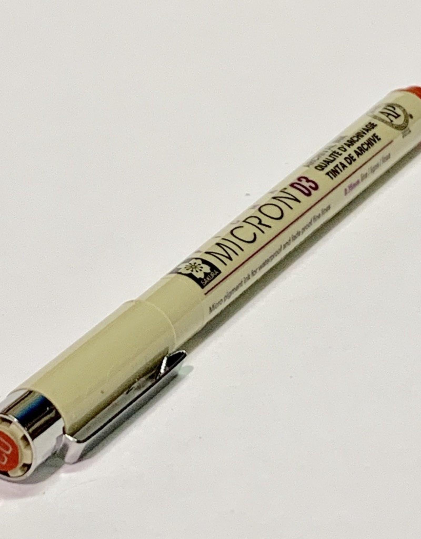 Sakura Micron Red Pen 03 .35mm